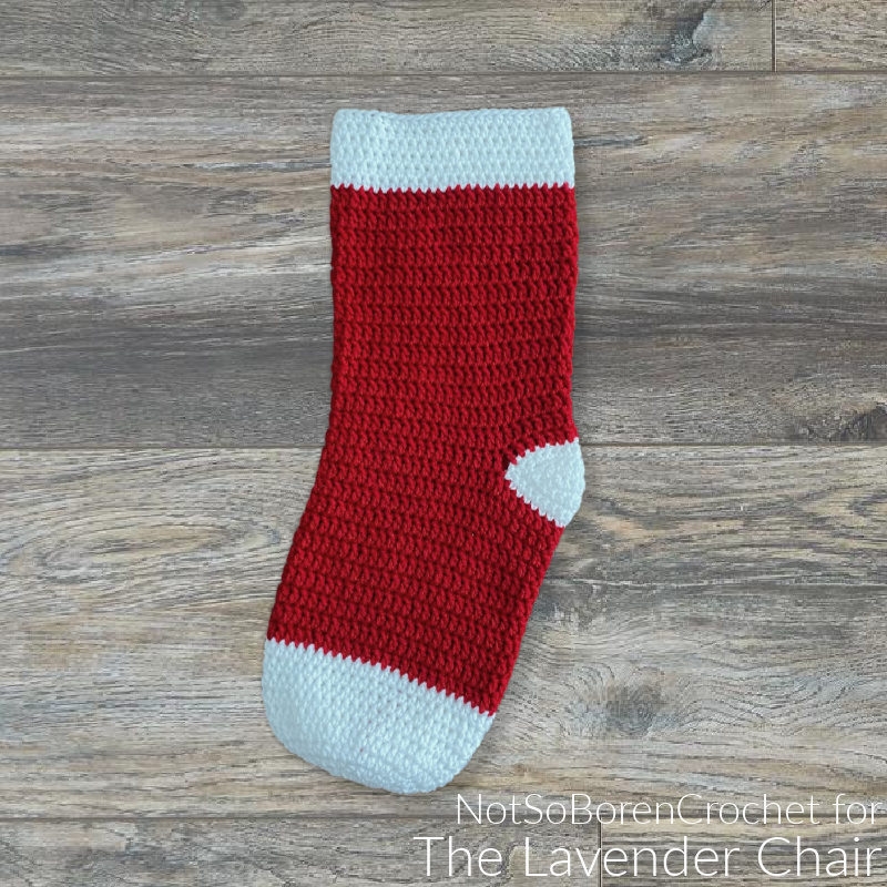 No Frills Basic Double Crochet Stocking - Free Crochet Pattern - The Lavender Chair