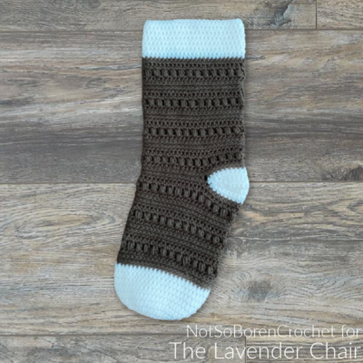 Rocky Road Stocking Crochet Pattern
