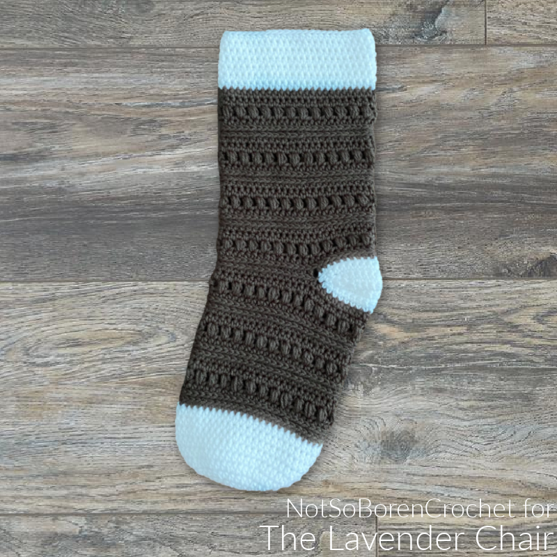 Rocky Road Stocking - Free Crochet Pattern - The Lavender Chair