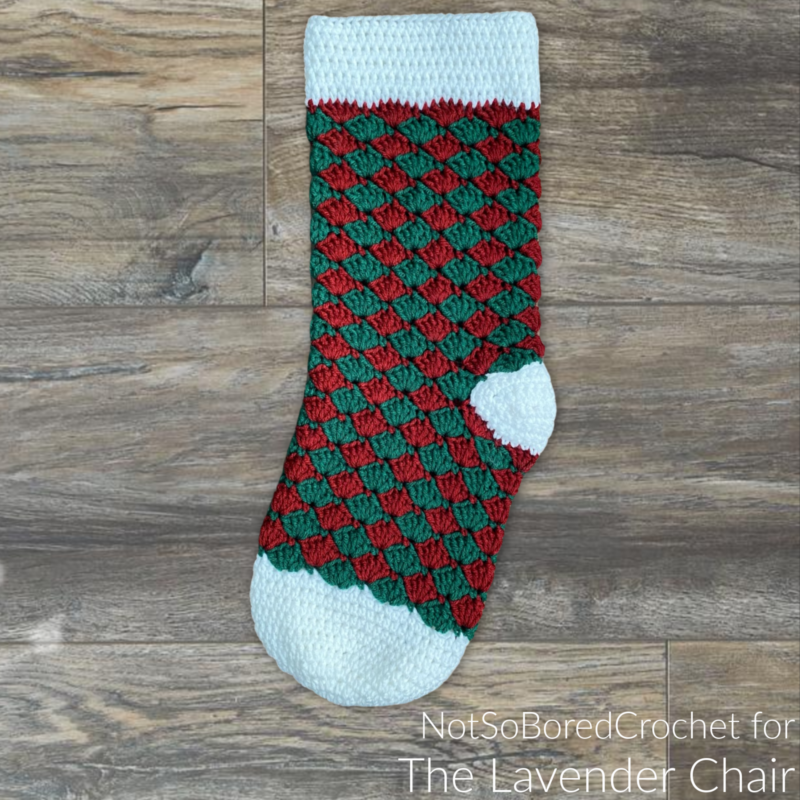 Simple Shells Stocking - Free Crochet Pattern - The Lavender Chair
