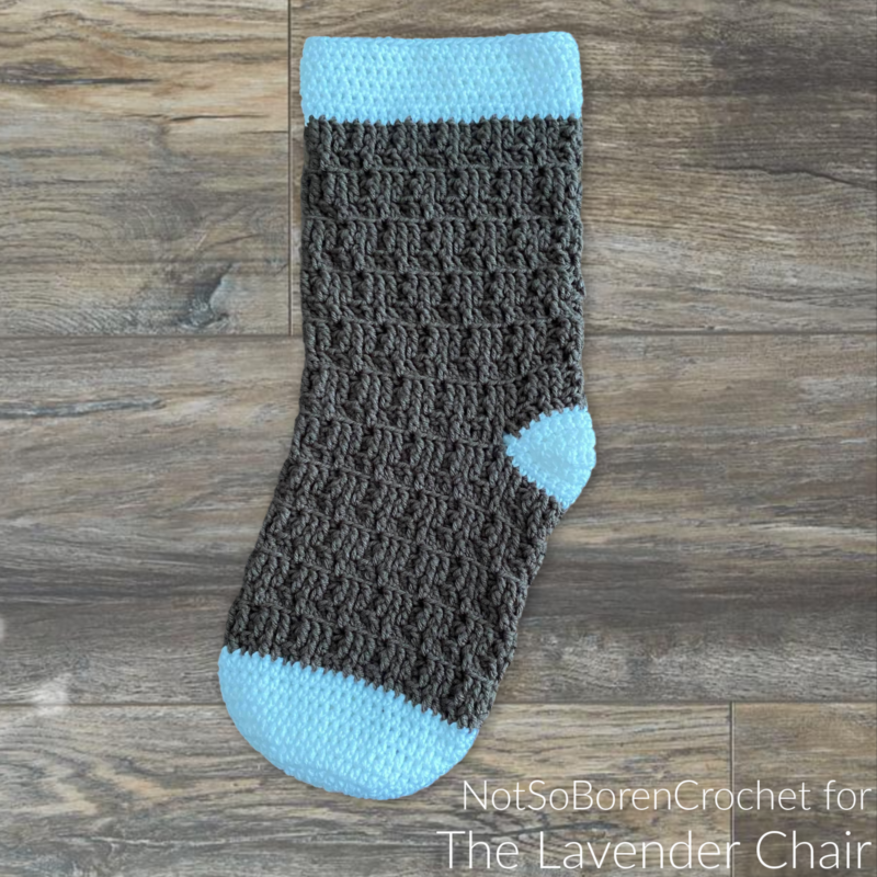 Textured Spike Stocking - Free Crochet Pattern - The Lavender Chair