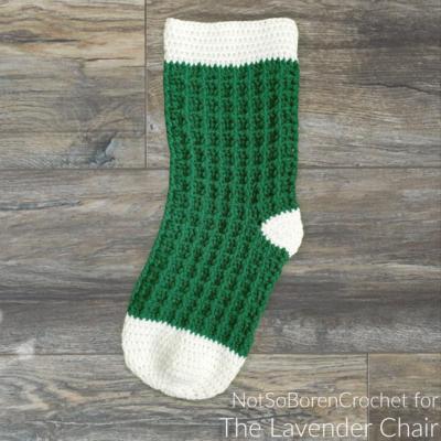 Waffle Stitch Stocking Crochet Pattern