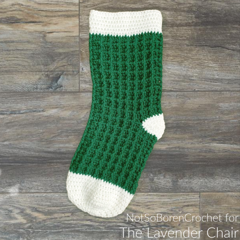 Waffle Stitch Stocking - Free Crochet Pattern - The Lavender Chair