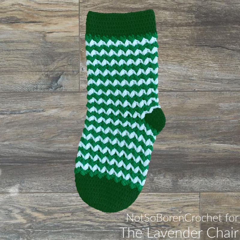 Ziggle Puff Stocking - Free Crochet Pattern - The Lavender Chair