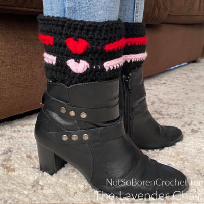 Love Me Tender Boot Cuffs Crochet Pattern