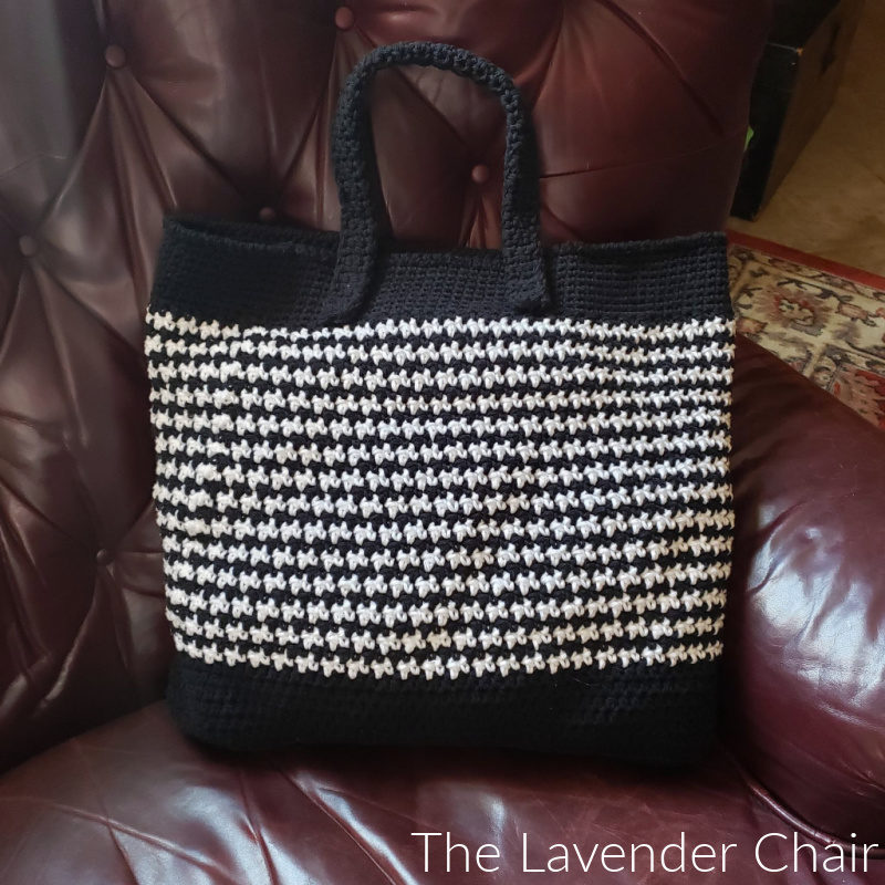 Houndstooth Market Tote - Free Crochet Pattern - The Lavender Chair