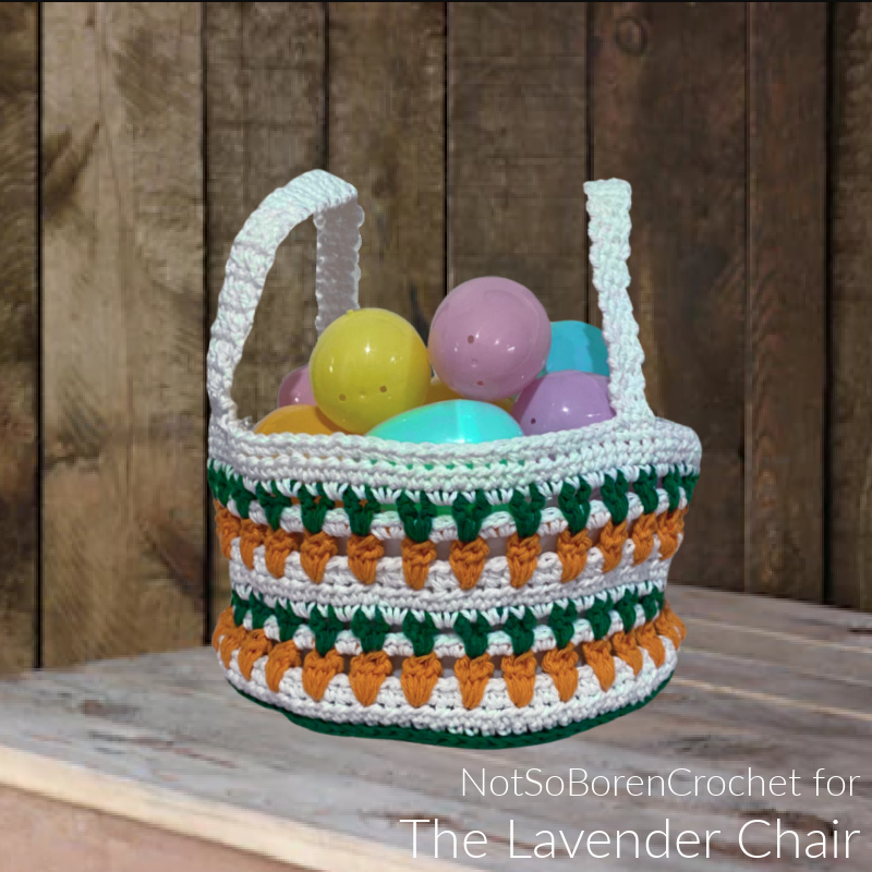 Carrot Patch Easter Basket - Free Crochet Pattern -The Lavender Chair