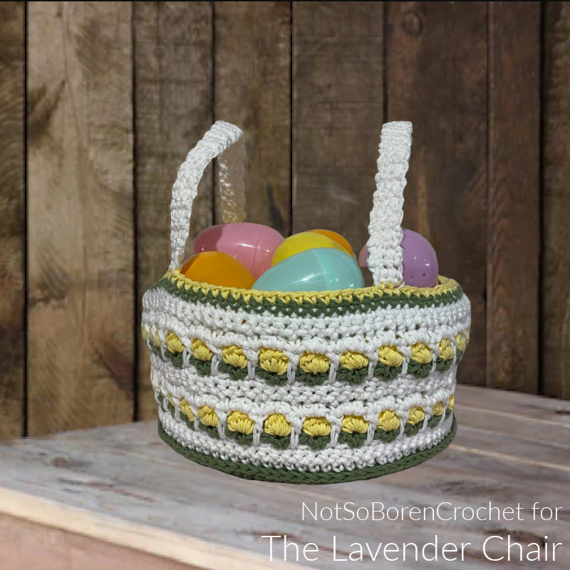 Window Flower Easter Basket - Free Crochet Pattern - The Lavender Chair