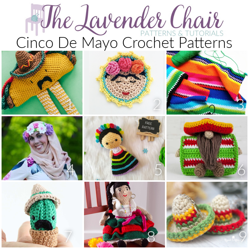 Free Cinco De Mayo Crochet Patterns - The Lavender Chair