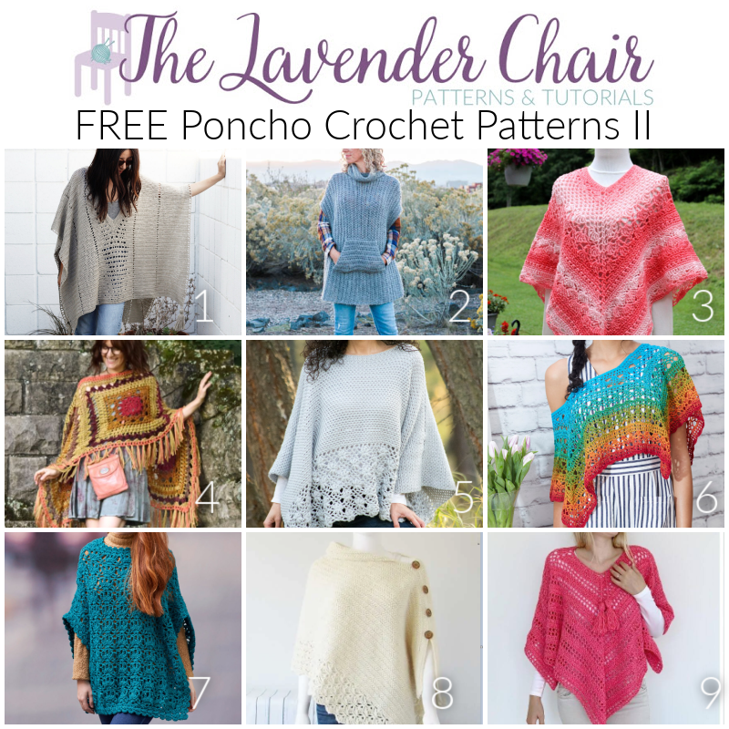 Free Poncho Crochet Patterns II - The Lavender Chair