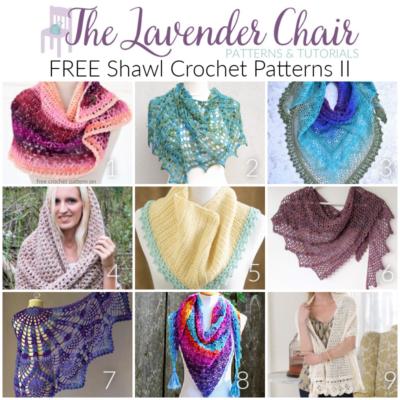 Shawl Crochet Pattern - The Lavender Chair