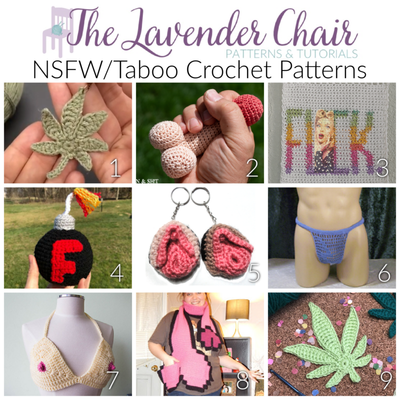 NSFW/Taboo Crochet Patterns - The Lavender Chair