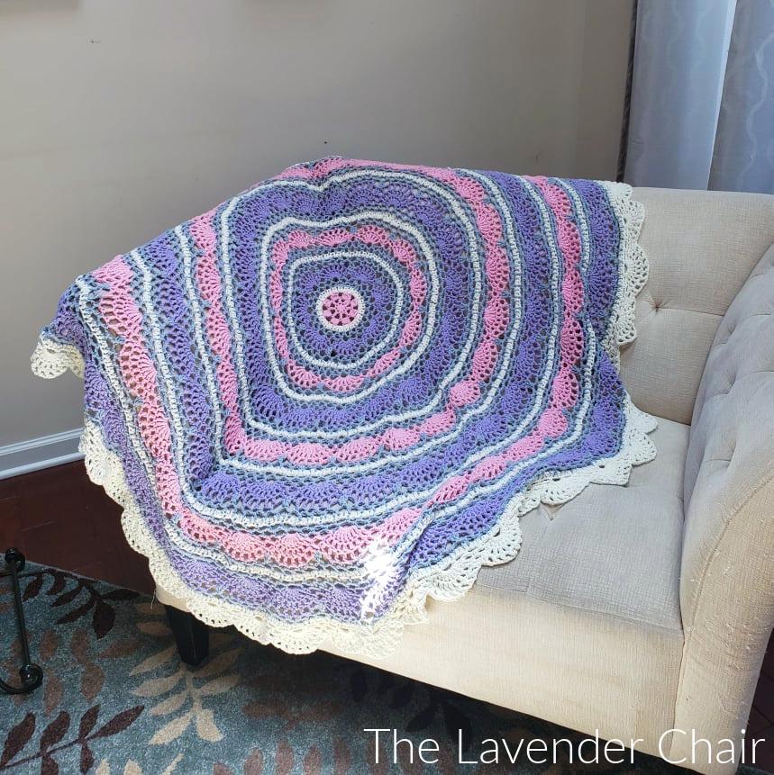 Melody Circular Blanket - Free Crochet Pattern - The Lavender Chair