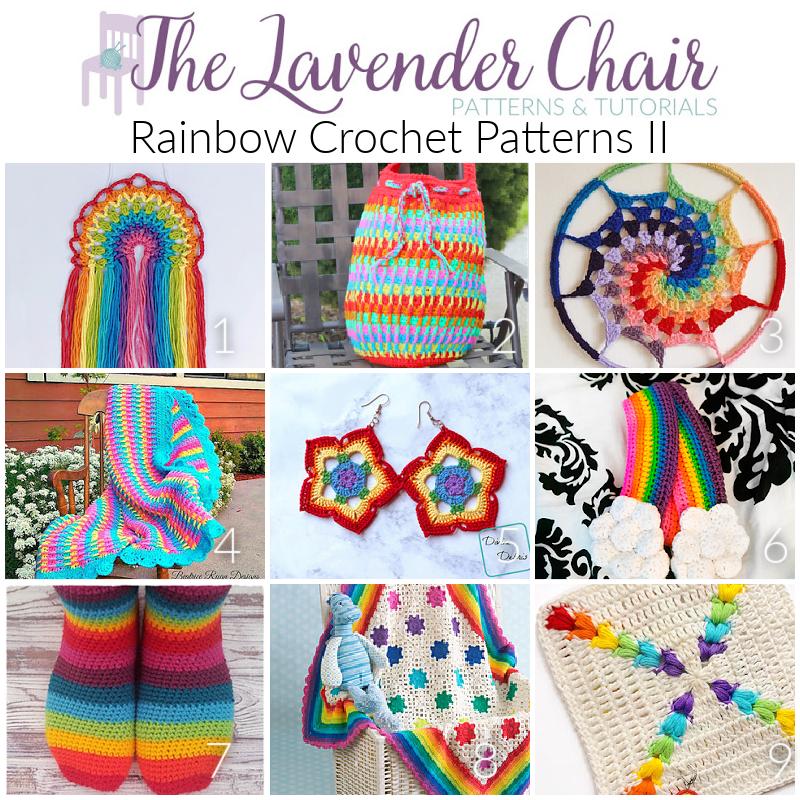 Rainbow Crochet Patterns II - The Lavender Chair