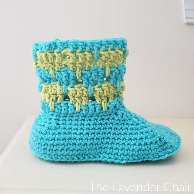 Arabella Slipper - Free Crochet Pattern  - The Lavender Chair